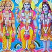 Hindu Trinity Brahma Vishnu Shiva Art Print