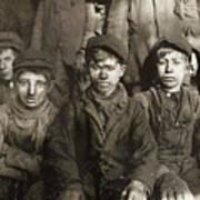 Hine: Breaker Boys, 1911 Art Print
