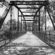 Hinkson Creek Bridge In Black And White Art Print