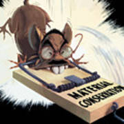 Hirohito As A Rat Art Print
