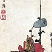 Hiroshige: Poppies Art Print