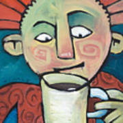 His Coffee Spoke To Him Art Print