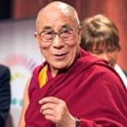 His Holiness The 14th Dalai Lama Photo By Christopher Michel 2012 Art Print