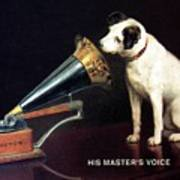 His Master's Voice - Hmv - Dog And Gramophone - Vintage Advertising Poster Art Print