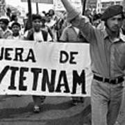 Hispanic Anti-viet Nam War March 2 Tucson Arizona 1971 Art Print