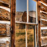 Historic Bannack Mining Reflections Art Print