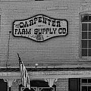 Historic Carpenter Farm Supply Sign Art Print