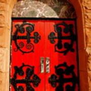Historic Church Doors Art Print