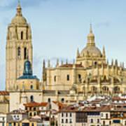 Historic City Of Segovia Art Print