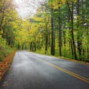 Historic Columbia River Highway In Fall Art Print