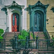 Historic Doors Of Charleston On Bull St Art Print