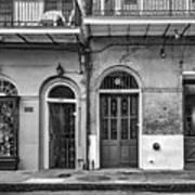 Historic Entrances Bw Art Print