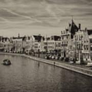 Historic Haarlem, Netherlands Bw Sephia Art Print