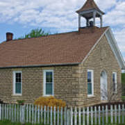 Historic Hinerville Schoolhouse  Art Print
