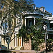 Historic Houses In A City, Charleston Art Print