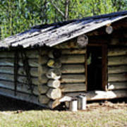 Historic Log Trappers Cabin Art Print