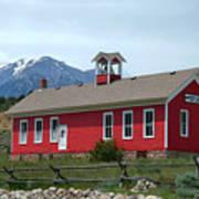 Historic Maysville School In Colorado Art Print