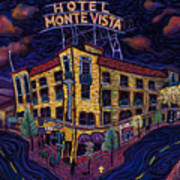 Historic Monte Vista Hotel Art Print