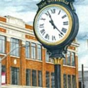 Historic Olde Walkerville Clock Art Print