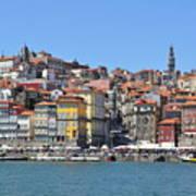 Historic Porto Riverfront Art Print