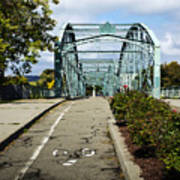 Historic South Washington St. Bridge Binghamton Ny Art Print