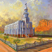 Historic St. George Temple Art Print