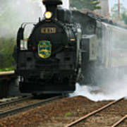Historic Steam Train Art Print