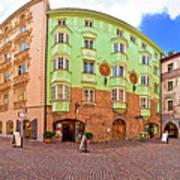 Historic Street Of Innsbruck Panoramic View Art Print