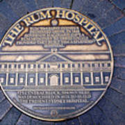 Historic Sydney Hospital - Plaque On Sidewalk Art Print
