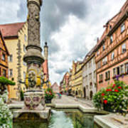 Historic Town Of Rothenburg Ob Der Tauber Art Print