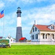 Historic Tybee Island Light Station Art Print