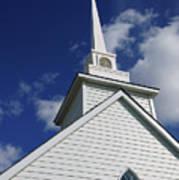 Historic White Church Art Print