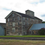 Historical Barron Wheat Flour Mill In Oakesdale Wa Art Print