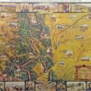 Historical Map Of Early Colorado Art Print