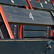Historical Wood Seating At Boston Fenway Park Art Print by Juergen Roth