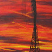 Hit Oil Art Print