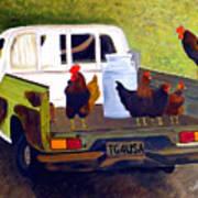 Hitchin' A Ride To Town Art Print