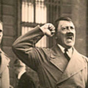 Hitler The Orator Art Print by Al Bourassa