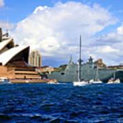 Hmas Adelaide Helps Sydney Celebrate Art Print