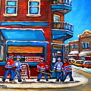 Hockey Game At Wilensky's Art Print