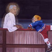 Hockey God Art Print