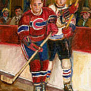 Hockey Stars At The Forum Art Print