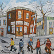 Hockey Town Montreal Created By Prankearts Art Print