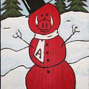 Hog Snowman Art Print