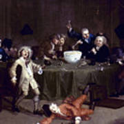 Hogarth: Midnight, 1731 Art Print