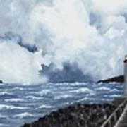 Hogsteinen Lighthouse Art Print