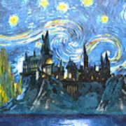 Harry Potter Starry Night Art Print