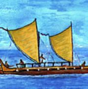 Hokulea Hawaiian Ocean Going Outrigger Canoe #49 Art Print