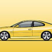 Holden Monaro Vz Cv8 Yellow Art Print