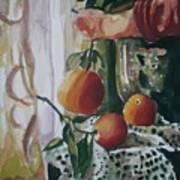 Holding   An Orange Art Print